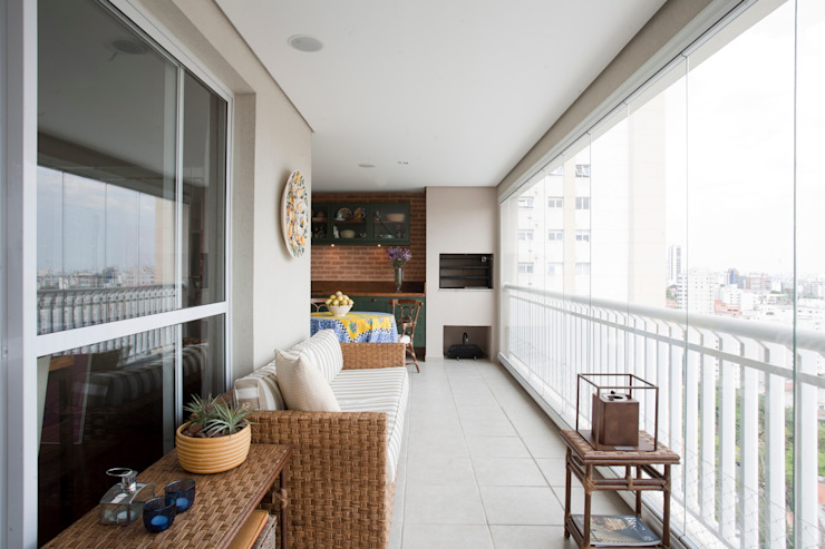 Balcon, Veranda & Terrasse originaux par Pereira Reade Interiores Éclectique