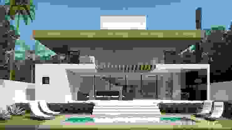 CASA 32 ESTALEIRINHO_SC Casas modernas por TRAÇO FINAL ARQUITETURA E INTERIORES Moderno
