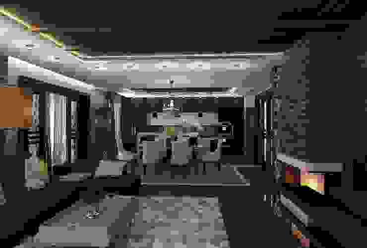 Интерьер столовой Столовая комната в стиле лофт от Студия дизайна Натали Хованской Лофт