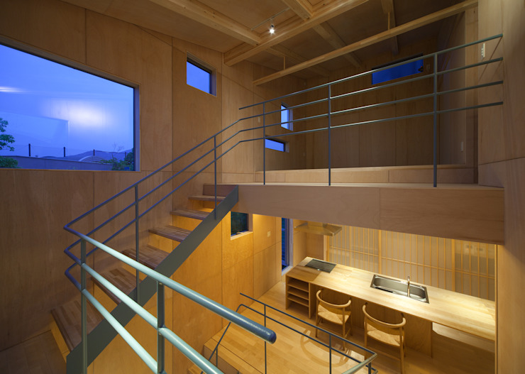 MOVEDESIGN 隨意取材風玄關、階梯與走廊