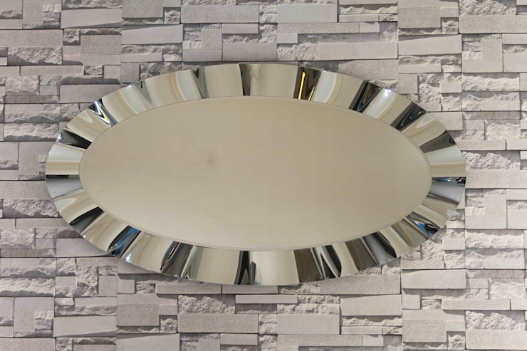 Anadolu Ayna – Oval Dalgalı Ayna: modern tarz , Modern