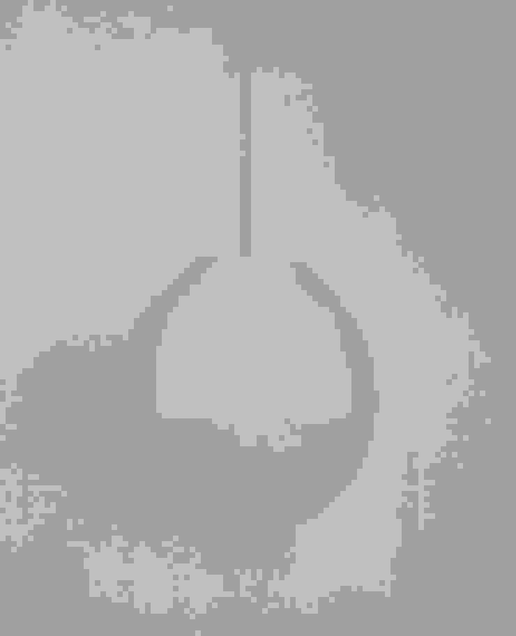 Type FP-I 40 cm, vilten bol met papierpulp op het vilt aangebracht van Vilt aan Zee Scandinavisch