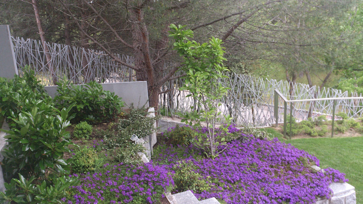 Diferentes proyectos de jardines y terrazas Jardines de estilo mediterráneo de IGLESIAS JARDINERÍA Y PAISAJE Mediterráneo