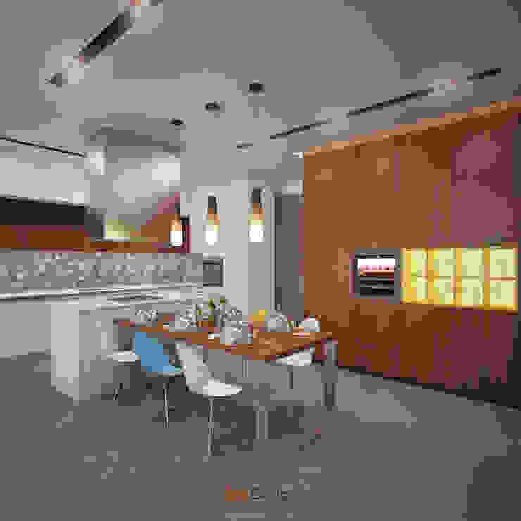 Rogaleva Кухня в стиле минимализм от DA-Design Минимализм