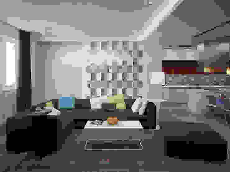 Rogaleva Гостиная в стиле минимализм от DA-Design Минимализм