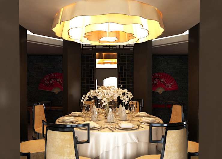 Limak Arcadia Hotel & Resort Red Wok Chinese Restaurant Modern Oteller SIBEL SARIKAYA INTERIOR DESIGN OFFICE Modern