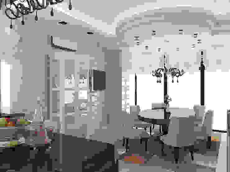 дизайн интерьера коттеджа Столовая комната в классическом стиле от архитектор-дизайнер Алтоцкий Михаил (Altotskiy Mikhail) Классический