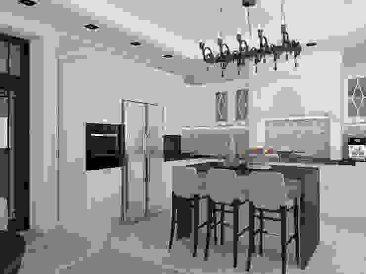 дизайн интерьера коттеджа Кухня в классическом стиле от архитектор-дизайнер Алтоцкий Михаил (Altotskiy Mikhail) Классический