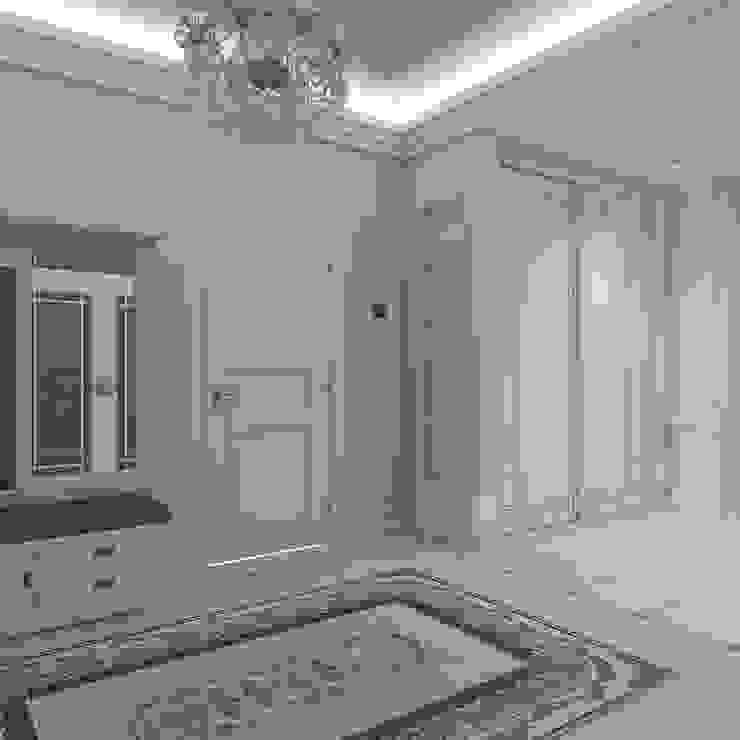 дизайн интерьера коттеджа Коридор, прихожая и лестница в классическом стиле от архитектор-дизайнер Алтоцкий Михаил (Altotskiy Mikhail) Классический