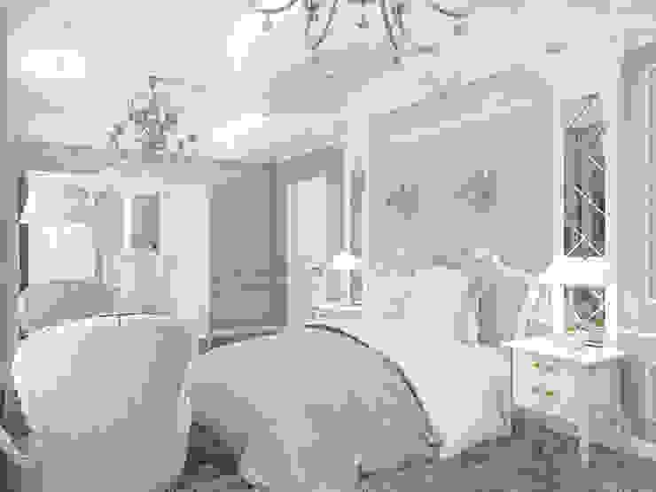 дизайн интерьера коттеджа Спальня в классическом стиле от архитектор-дизайнер Алтоцкий Михаил (Altotskiy Mikhail) Классический