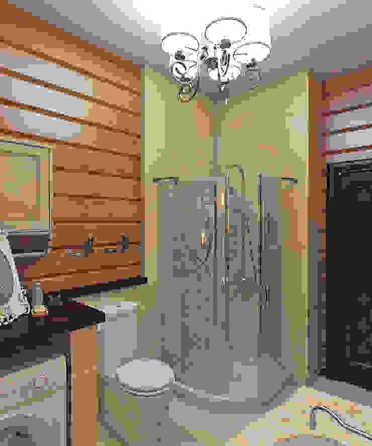 дизайн интерьера дачи Ванная комната в рустикальном стиле от архитектор-дизайнер Алтоцкий Михаил (Altotskiy Mikhail) Рустикальный