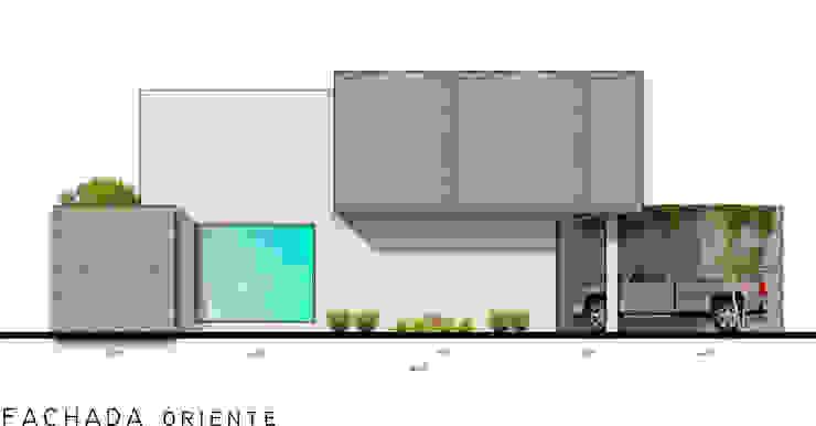 FACHADA ORIENTE Casas modernas: Ideas, imágenes y decoración de RAFAEL GUZMAN MADRID TALLER DE ARQUITECTURA Moderno