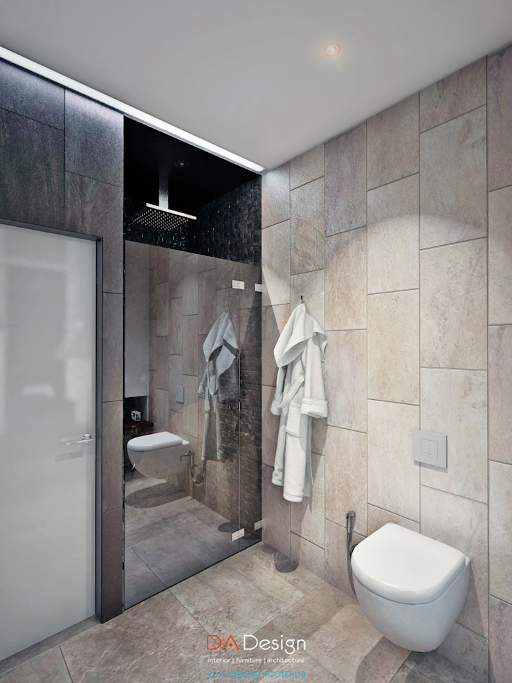 Rogaleva Ванная комната в стиле минимализм от DA-Design Минимализм