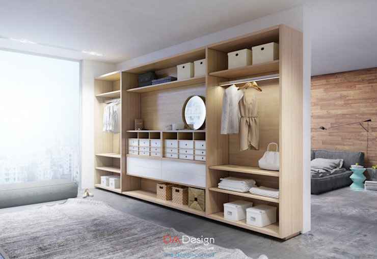 Dressing room by DA-Design, Minimalist