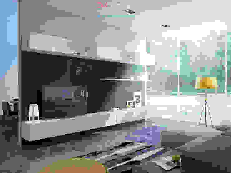 TV zone Гостиная в стиле минимализм от DA-Design Минимализм