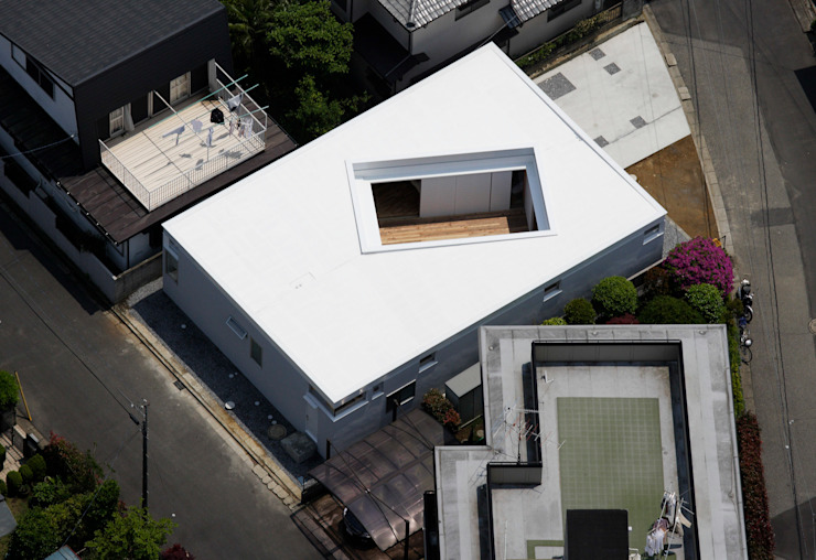 F-WHITE モダンな 家 の 山本卓郎建築設計事務所 モダン