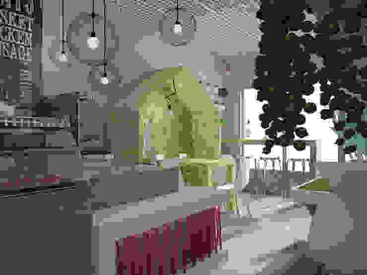 Kawiarnia-cukiernia w kontrastowej odsłonie od Kameleon - Kreatywne Studio Projektowania Wnętrz Skandynawski