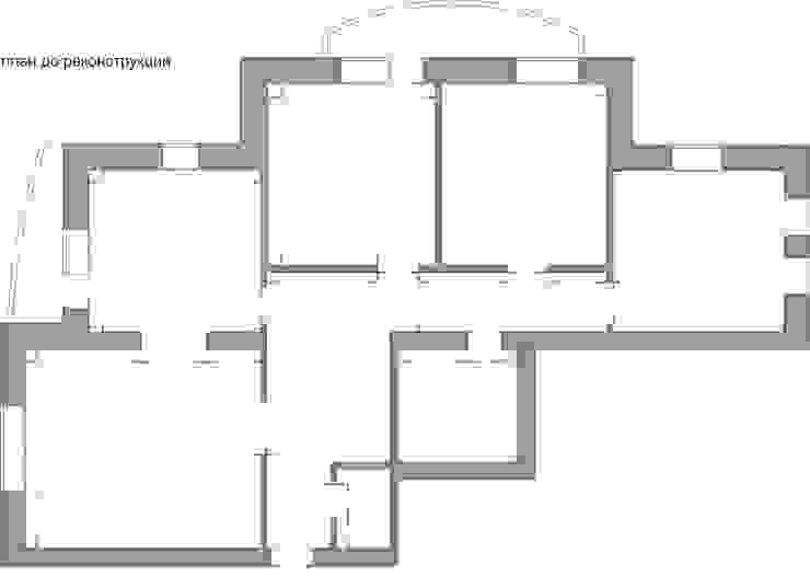 план квартиры до реконструкции / перепланировки от LO designer / architect - designer ELENA OSTAPOVA