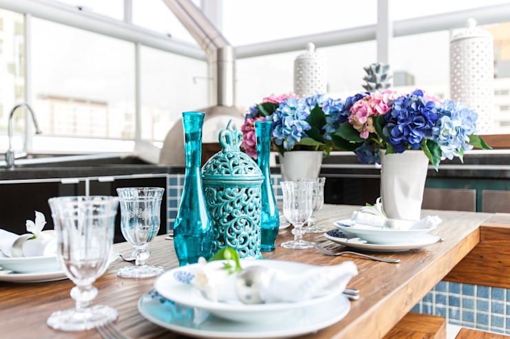 Barbara Dundes | ARQ + DESIGN Balcon, Veranda & Terrasse ruraux