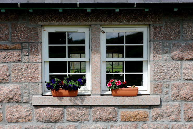 Laundry Cottage, Glen Dye, Banchory, Aberdeenshire Roundhouse Architecture Ltd Windows & doors Window decoration