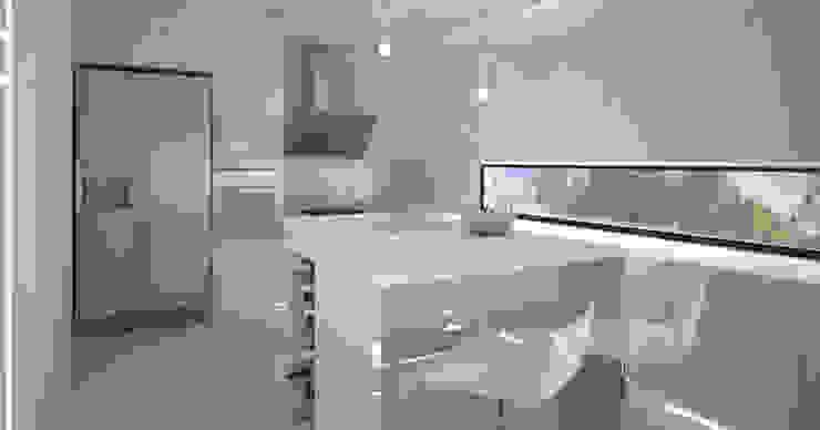 Dom w stylu bauhaus - Niemcy Minimalistyczna kuchnia od Kameleon - Kreatywne Studio Projektowania Wnętrz Minimalistyczny