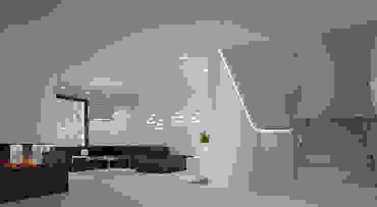 Dom w stylu bauhaus - Niemcy Minimalistyczny korytarz, przedpokój i schody od Kameleon - Kreatywne Studio Projektowania Wnętrz Minimalistyczny