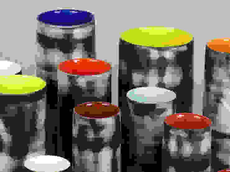 Nebula Cylinders, 16-28cm: minimalist  by Andrew Temple Smith Ceramics, Minimalist