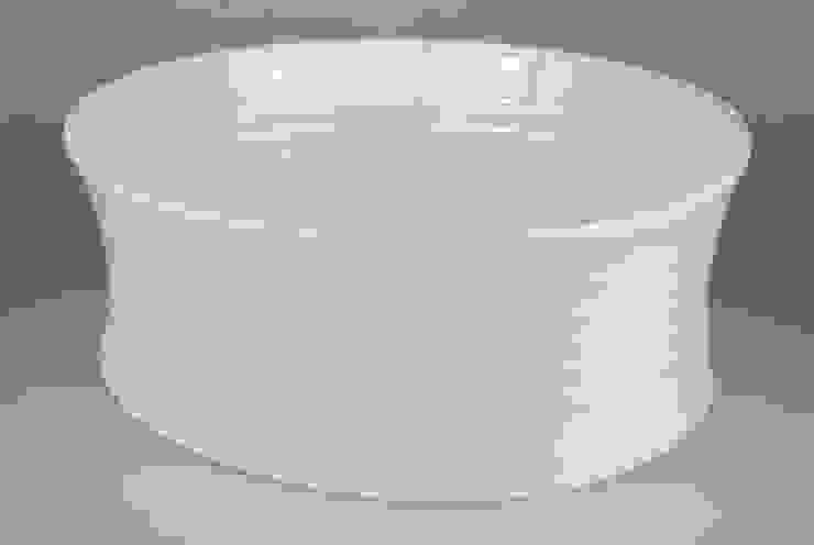 Eccentric Bowl, porcelain, 34cm: minimalist  by Andrew Temple Smith Ceramics, Minimalist