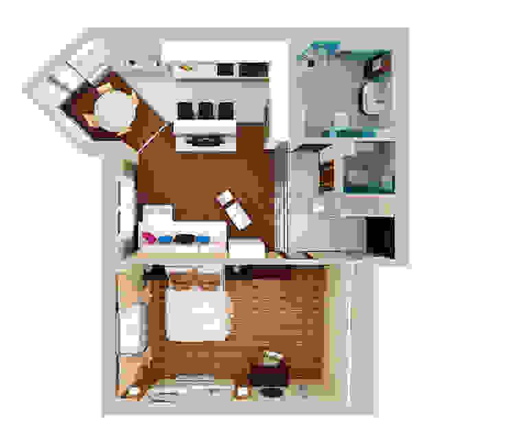 план квартиры после реконструкции / перепланировки от LO designer / architect - designer ELENA OSTAPOVA