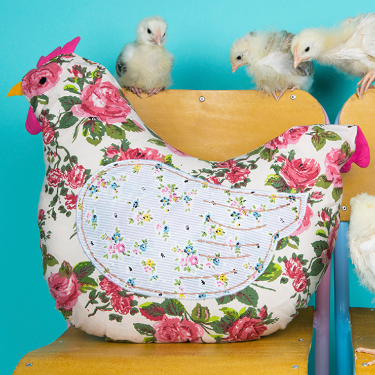Country Chic Hen Cushion by Sass & Belle Кантрi