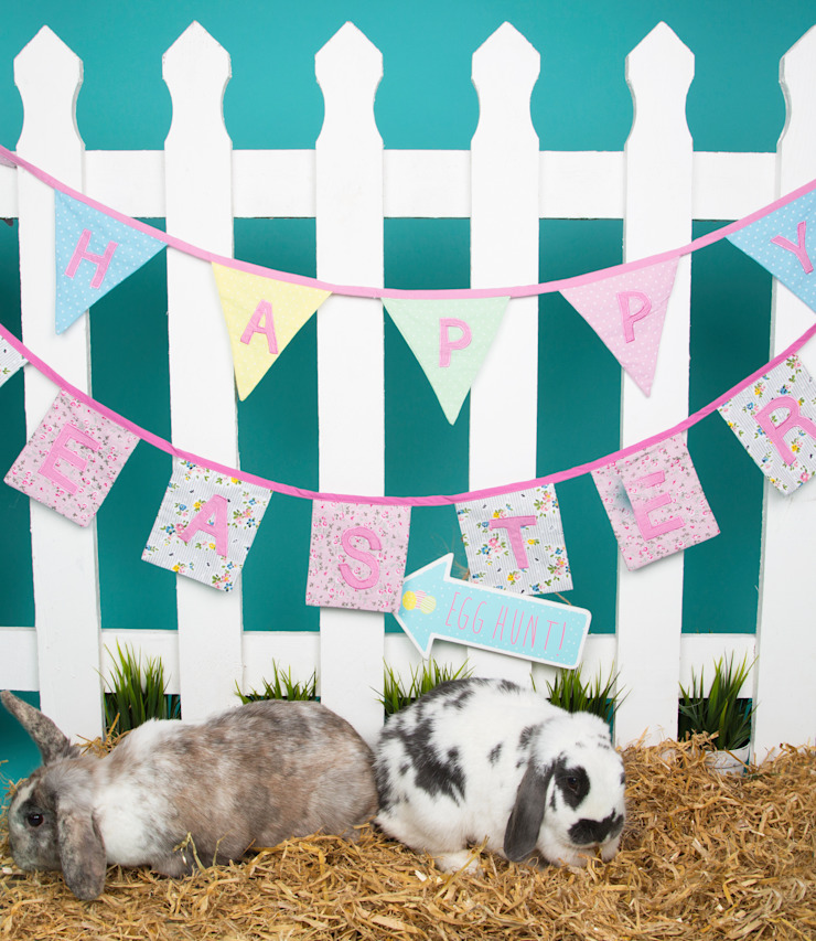 Happy Easter Vintage Floral Bunting: classic  by Sass & Belle, Classic