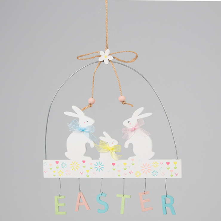 Easter Bunny Family Pastel Hanging Decoration por Sass & Belle Moderno