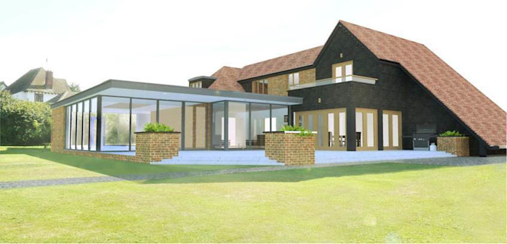 Domestic Extension - Canterbury Modern living room by allenarchitecturelimited Modern