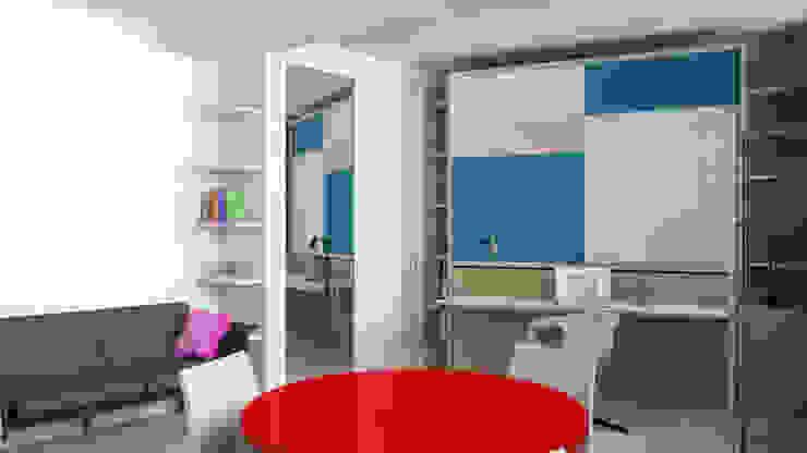Monolocale trasformabile Studio moderno di Gentile Architetto Moderno