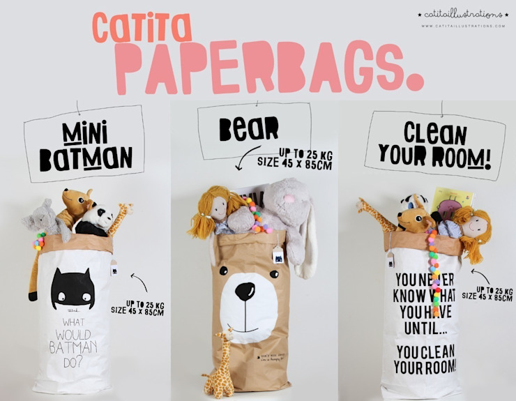 Paperbags por catita illustrations® Escandinavo