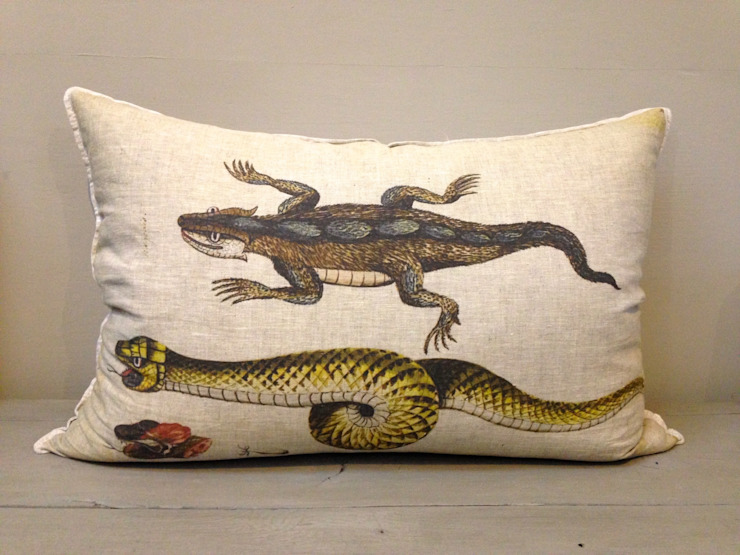 Snake Cushion: colonial  by Porcupine Rocks Ltd, Colonial