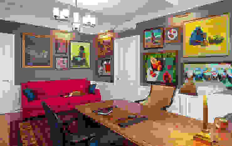 Кабинет Рабочий кабинет в эклектичном стиле от Bituleva Project Эклектичный