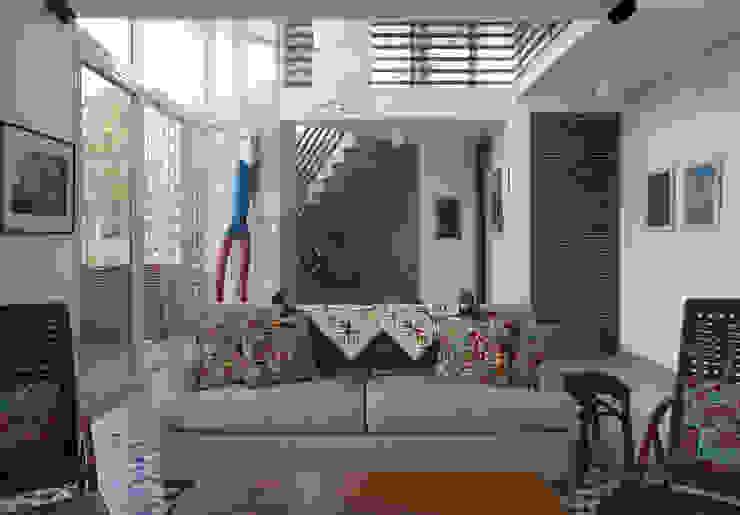 Casa Baleião Salas de estar ecléticas por Gustavo Calazans Arquitetura Eclético