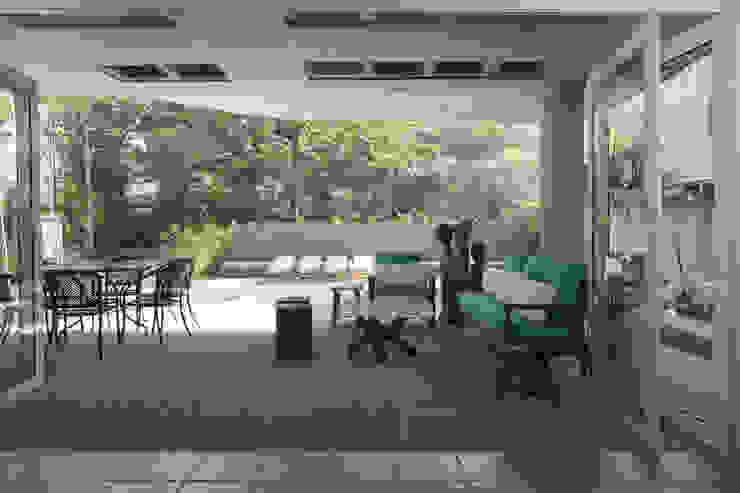 Casa Baleião Varandas, alpendres e terraços ecléticos por Gustavo Calazans Arquitetura Eclético