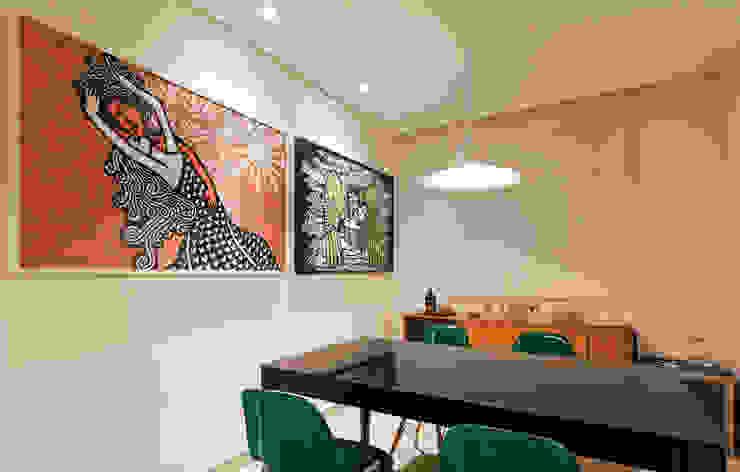 RESIDÊNCIA HANRIOT Salas de jantar modernas por Isabela Bethônico Arquitetura Moderno