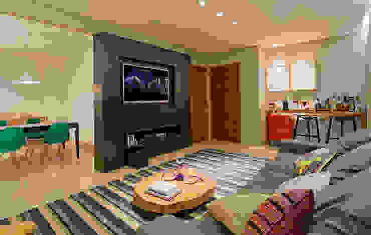 RESIDÊNCIA HANRIOT Salas de estar modernas por Isabela Bethônico Arquitetura Moderno