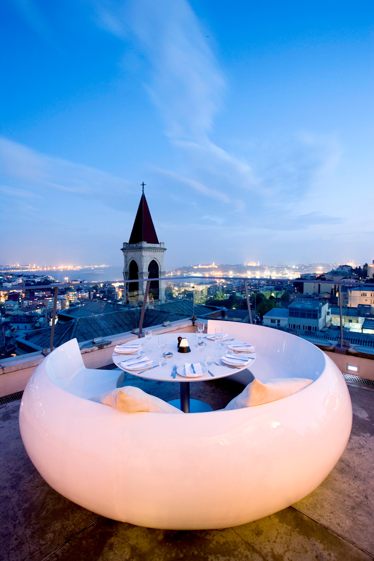 360 Istanbul View with the white booth 360istanbul Akdeniz