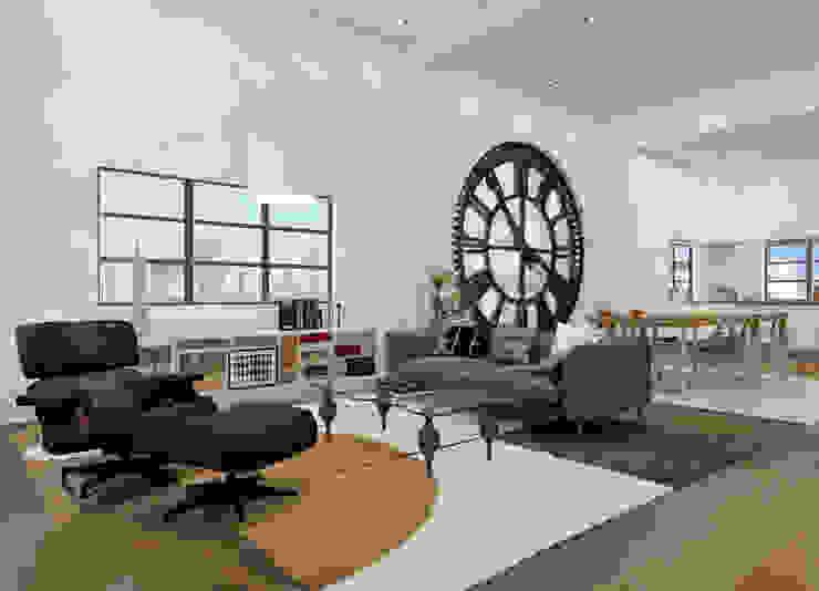 Triplex NY Salones de estilo industrial de AC Studio Industrial
