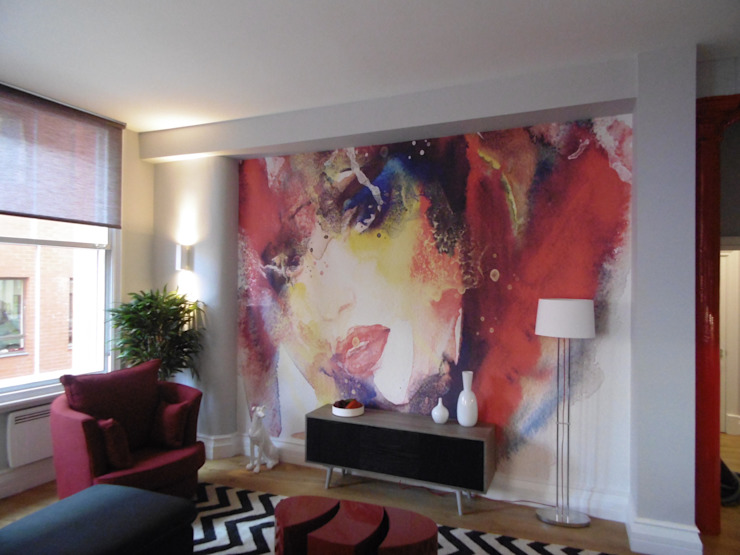 City Centre Apartment, Manchester, UK Modern living room by Flawless Concepts Ltd Modern