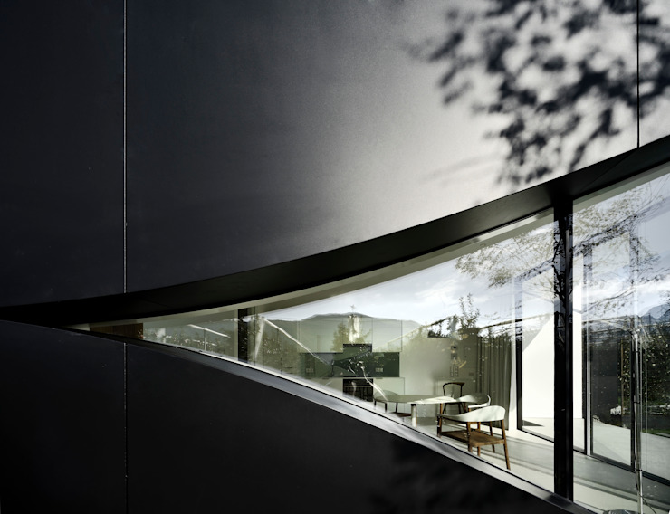 Mirror Houses Minimal style window and door by Peter Pichler Architecture Minimalist