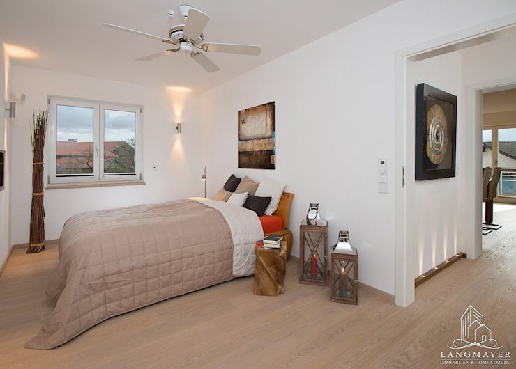 Schlafzimmer Moderne Schlafzimmer von Langmayer Immobilien & Home Staging Modern