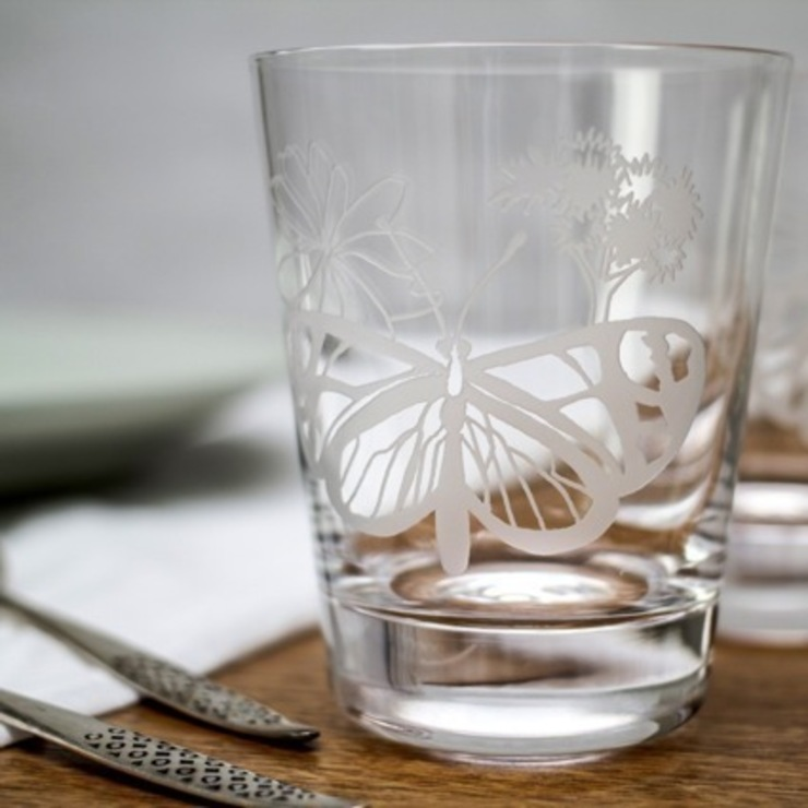 Flat Butterfly Tumblers: eclectic  by Sara Newman Design, Eclectic