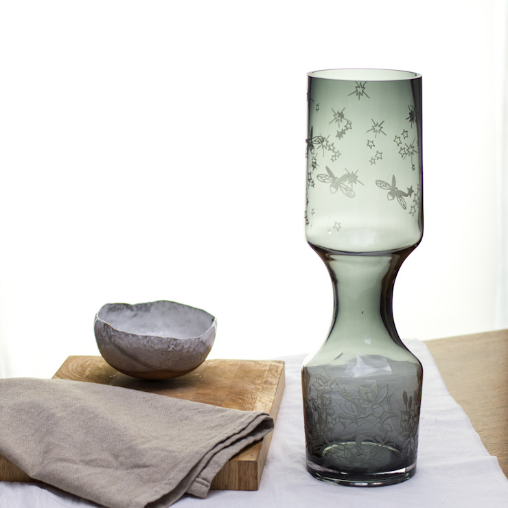 Lush Smokey Vase: eclectic  by Sara Newman Design, Eclectic