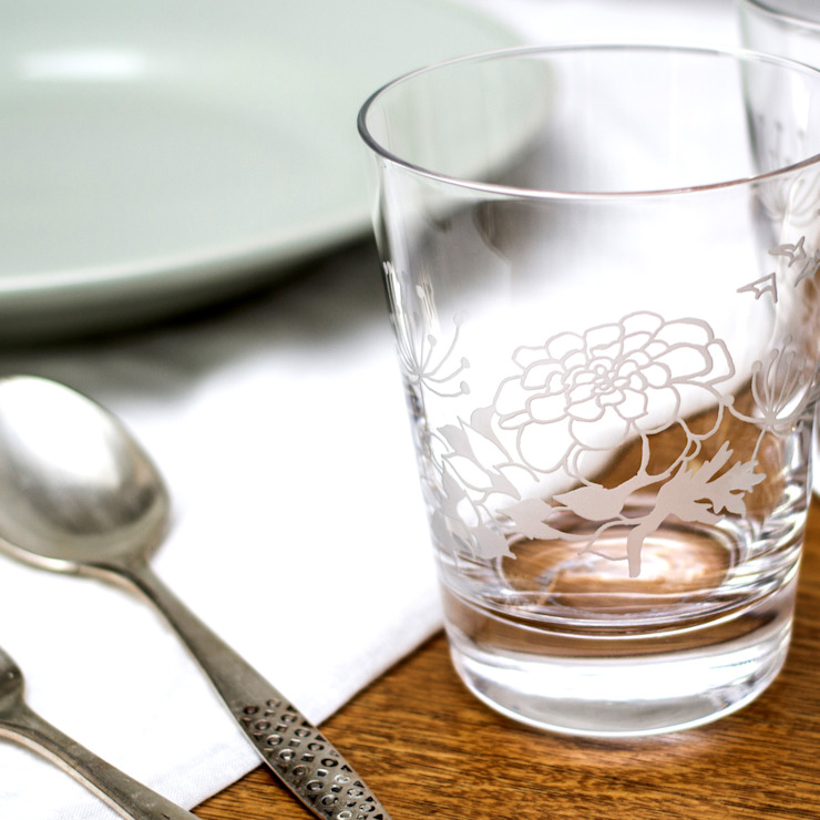 Marigold Tumblers: eclectic  by Sara Newman Design, Eclectic