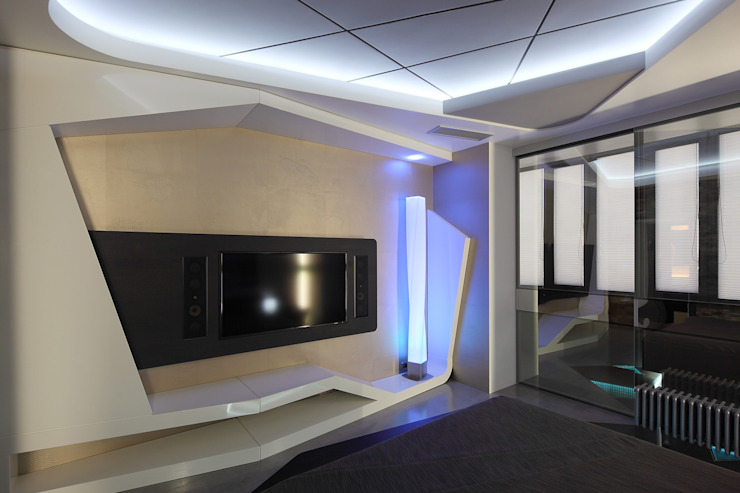 квартира на Масловке Спальня в стиле модерн от Disobject architects Модерн
